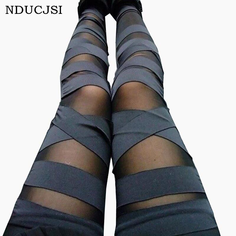 Женские облегающие леггинсы, облегающие черные эластичные леггинсы в стиле панк, 2020