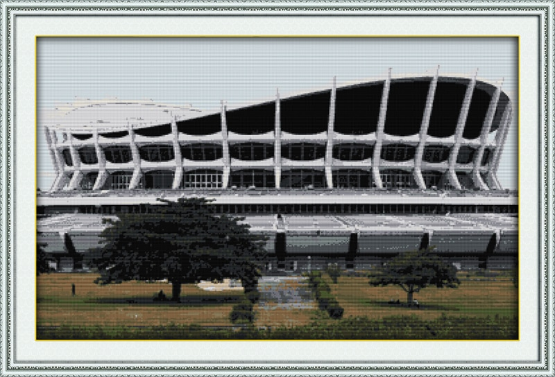 African National Theatre cross stitch kit 18ct 14ct 11ct count printed canvas stitching embroidery DIY handmade needlework