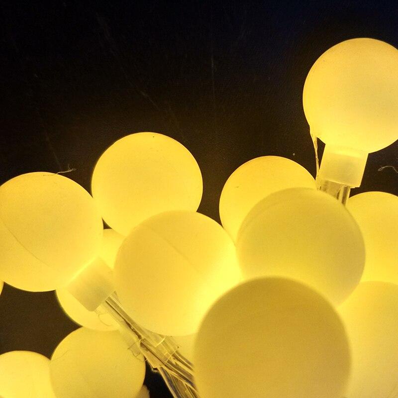 Enchufe EE. UU. EU 110V 220V LED cuerdas 80LED 10M decoración colorida de la boda Cadena de luces de Acción de Gracias joulu loma valot Kaled