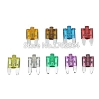 27pcs 5a40a small size auto fuse inserts car insurance tablets small fuse with lamp car inserts fuse