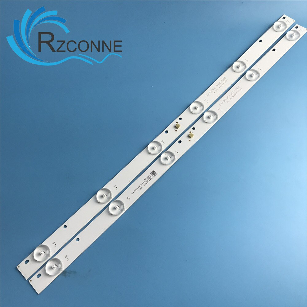 Luz universal 445MM tira de LED para iluminación trasera 6 lámpara para 23 24 pulgadas LCD TV MONITOR 035-236-3528-fc_V02 3V
