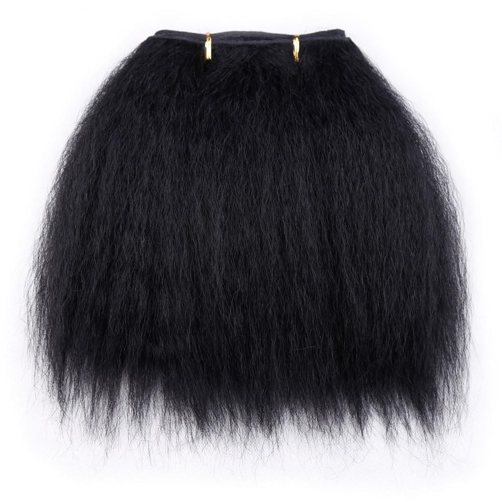 Amir Verworrene Gerade Haar Bundles Für Afrikanische Frauen 10 zoll Kurze Synthetische Haarwebart Schwarz Haar Tressen 1 Stück