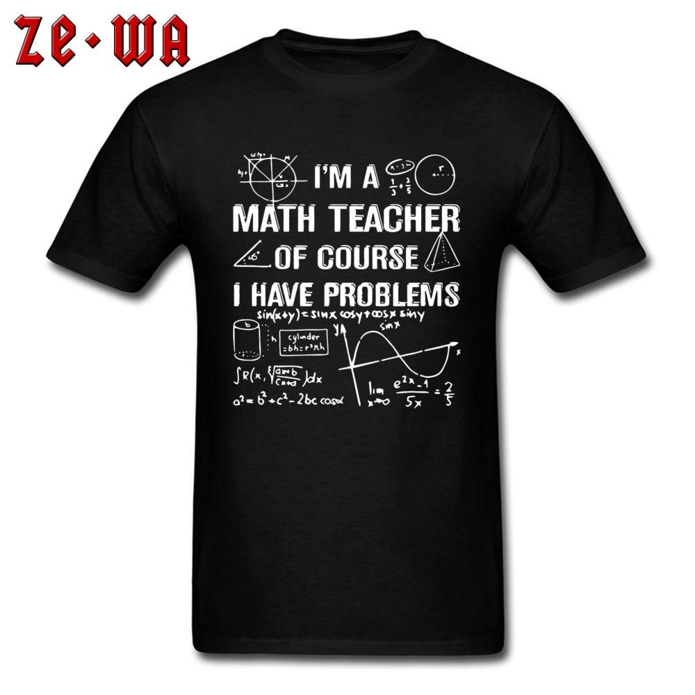 Matemáticas Número de la teoría de la función de la camiseta de la fórmula de los hombres de moda camisetas geométrica de la solución del área de matemáticas problemas de profesor de Ciencia