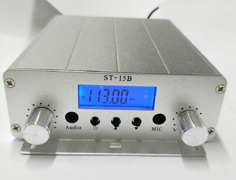 FM transmitter 15 watt FMU SER ST-15B stereo PLL broadcast radio with 76MHz~113MHz-100khz