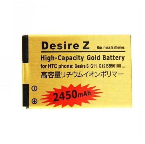 1x2450 mah BG32100 PG32130 BB96100 Золотая сменная батарея для HTC Desire Z Incredible S Desire 2 G11 G12 S510e