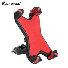 West vélo 360 degrés Rotation vélo Support pour téléphone mis à niveau vtt vélo Support Support réglable téléphone largeur 3.5 à 7 pouces