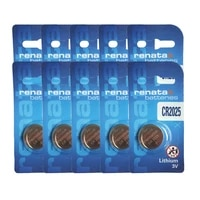 10pcs swiss cr2025 renata button watches 3v battery remote control toy batteries