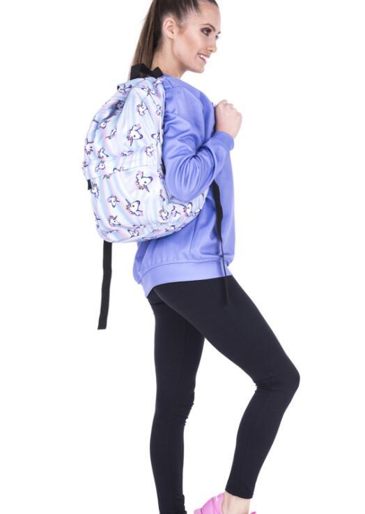 deanfun drawstring bag hot selling 3d printing softback man woman backpacks s89 10 pcs fedex fast Unicorn Backpack 3D Printing Travel Softback Bag Mochila School Cat Backpack Notebook For Girls Backpacks
