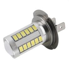 LED 12V H7 Super Bright Light Headlight White 5630 SMD 33 LED Car Auto Lens Fog Driving Light Lamp Bulb DC12V