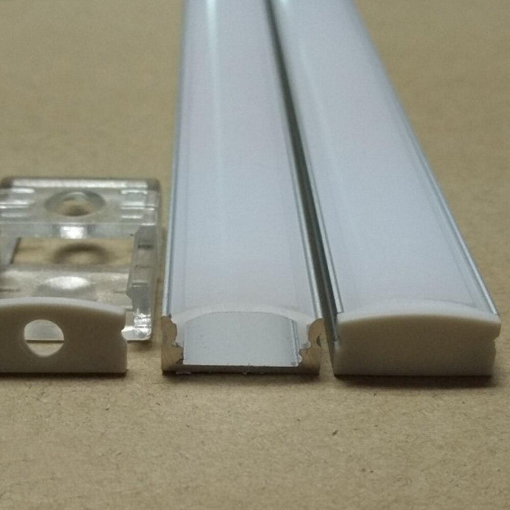 40 m (20 piezas) por lote, 2 m por pieza, perfil de aluminio led SN1707 para tiras led de 12mm