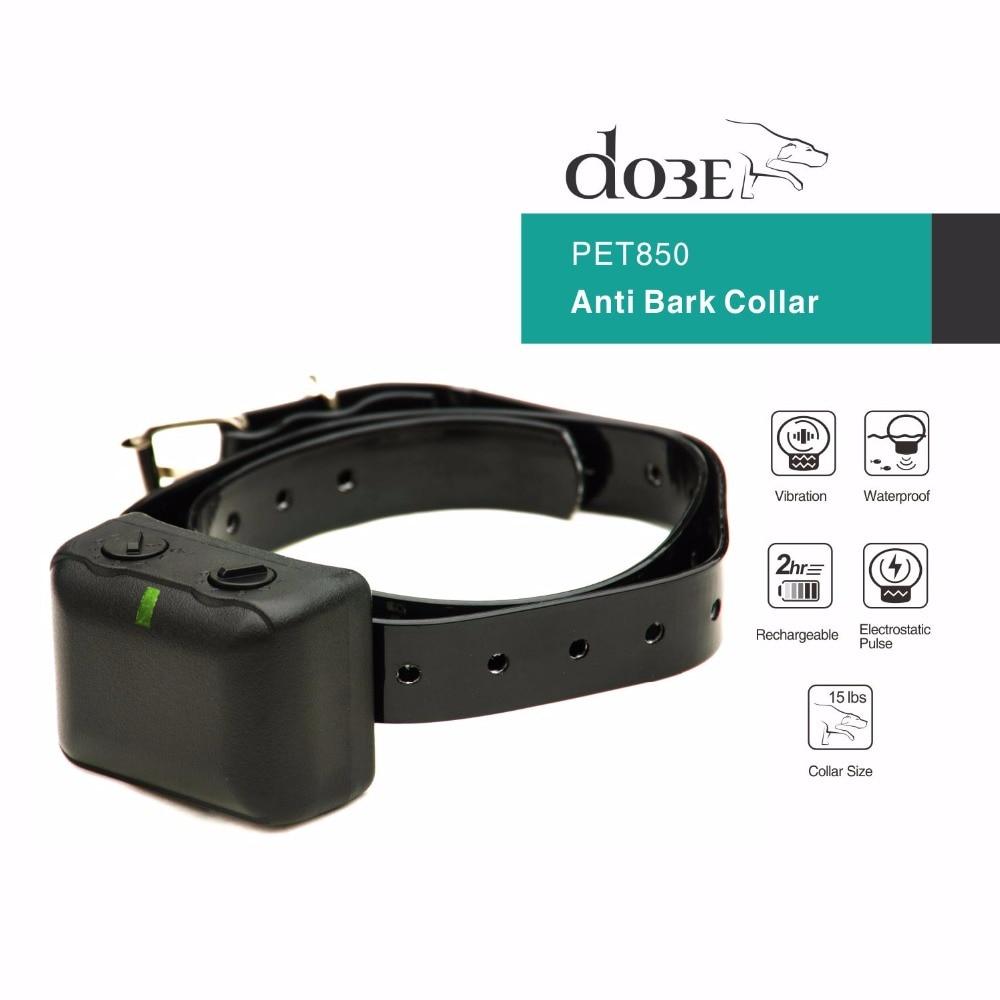 Тренировочный ошейник для собак с защитой от лай, перезаряжаемый, водонепроницаемый, без лай, для электрического ошейника для собак