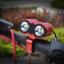 Walkefire U2 phare de vélo 2400 Lumens vélo lumière LED 3 Mode étanche vélo avant lumière phare avec batterie
