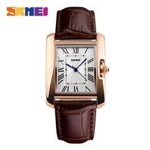 SKMEI Luxury Women Watches Rhinestone Ladies Wristwatch Womens Quartz Wrist Watch Female Clock PU Watch Relogio Feminin 1085
