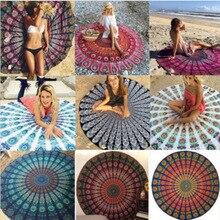 Bohème Mandala rond tapisserie scarft plage Hippie jeter Yoga tapis serviette indien Roundie Super flexible fibre