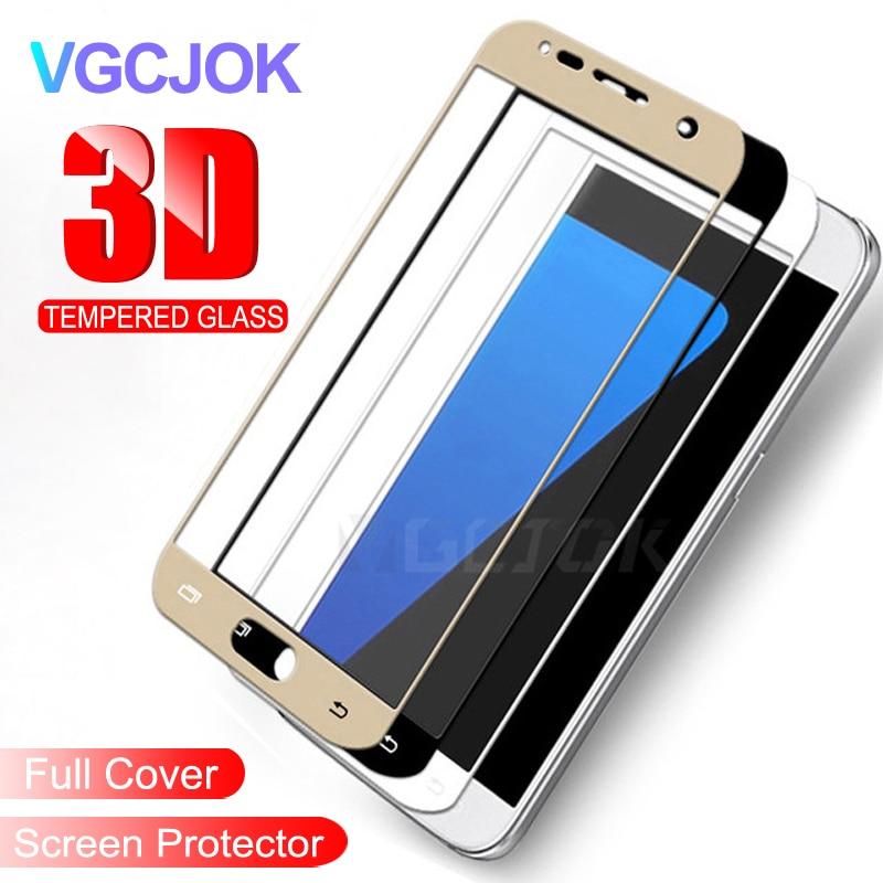 3D funda completa templada de vidrio en la para Samsung Galaxy J3 J5 J7 A3 A5 A7 2017 de 2016 protector de pantalla de cristal para el Samsung Galaxy S7 película