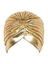 Chapeau pour tête en métal Turban   Bandeau, couleur or et argent