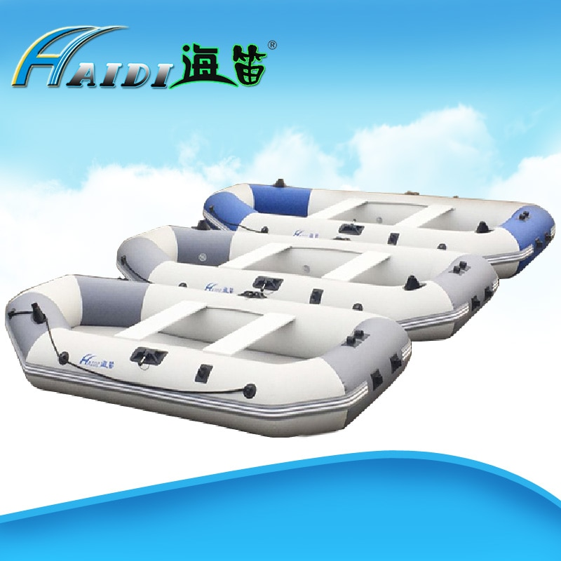 HAIDI надувные лодки, 3-слойная ПВХ-сетка, рыболовная лодка для гребли, 4 человека с проводом, тянущим дном, для сёрфинга на песке
