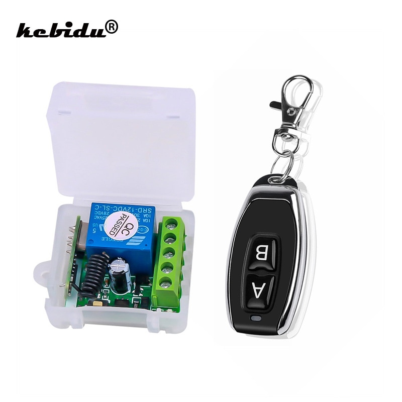 Kebidu 433 МГц AC 12 в беспроводной 1CH радиочастотный передатчик пульт дистанционного управления + радиочастотный релейный приемник для легкого открывания Гаражных Дверей