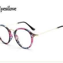 Eyesilove retro women myopia glasses customized vintage lady myopia eyeglasses round frame prescript
