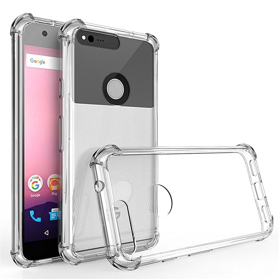 Для Google Pixel 1 2 3 3a 4 4a XL чехол с воздушной подушкой прозрачный мягкий Силиконовый ТПУ ударопрочный чехол с полной защитой для телефона