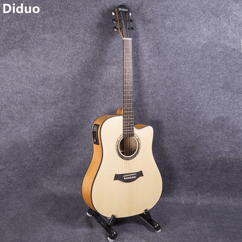 Diduo 41 Cal gitara Guitarra Folk gitara akustyczna Durbale 6-String Picea Asperata gitara z 5 segmentów odbioru zamknięte pokrętło