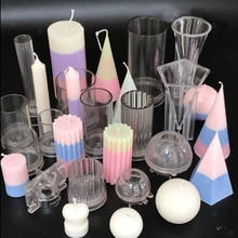 Klar Kunststoff Kerze, Der Mold Kerze Formen DIY 3D Kerze Seife Ton Hand-made Handwerk Wachs Seife Formen Werkzeuge