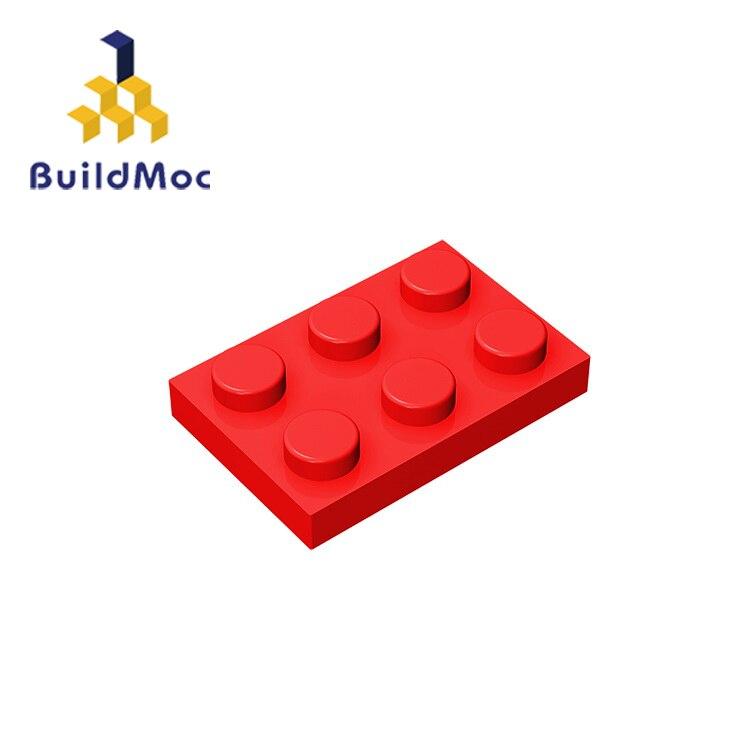 BuildMOC Compatible con partículas de ensamblaje 3021 placa 2x3 para piezas de bloques de construcción DIY Story educativo creativo regalo Juguetes