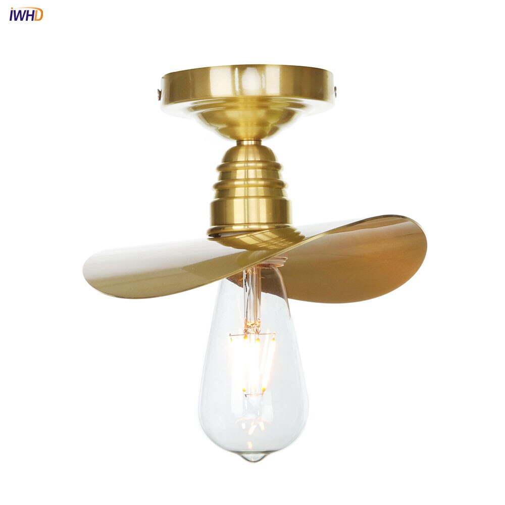 IWHD Nordic Copper LED Ceiling Lamp E27 Creative LED Light Ceiling Simple Living Room Lights Fixtures For Home Lighting iwhd colorful nordic modern led ceiling light fixtures porch corridor bedroom round glass ball ceiling lamp plafonnier lighting