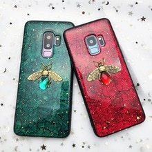 Feuille dor Bling Abeille Pour Samsung Galaxy A10 A20 A30 A40 A50 A60 A70 M10 M20 M30 J4 J6 A6 2018 Note8 9 S8 S9 S10 lite Plus