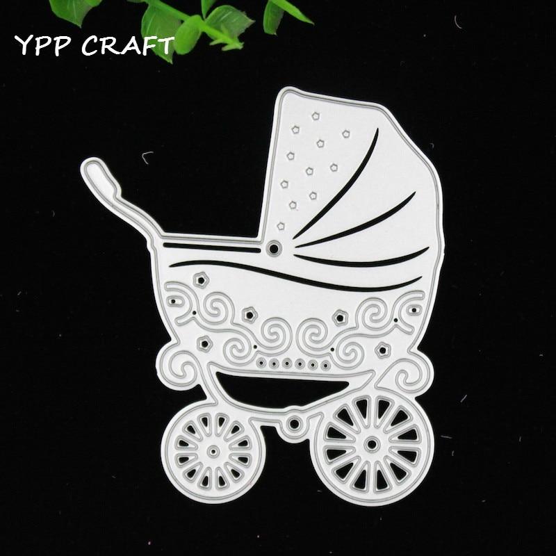YPP CRAFT Baby Wagon Metal Die Cuts Metal Die Cutting Dies Scrapbooking For Cutting Machine