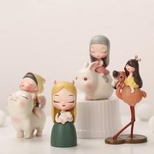 White Night Fairy Tales Cat General Goodnight Rabbit Home Creative Desktop for Birthday Girl Fashion toys