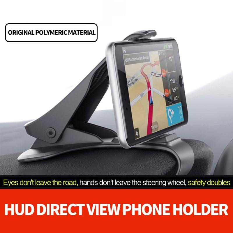 Soporte para teléfono de coche DISEÑO DE HUD soporte ajustable para el salpicadero para IPhone 8 7 Plus 6 Galaxy S9 Note 8 Xiaomi soporte para teléfono Huawei