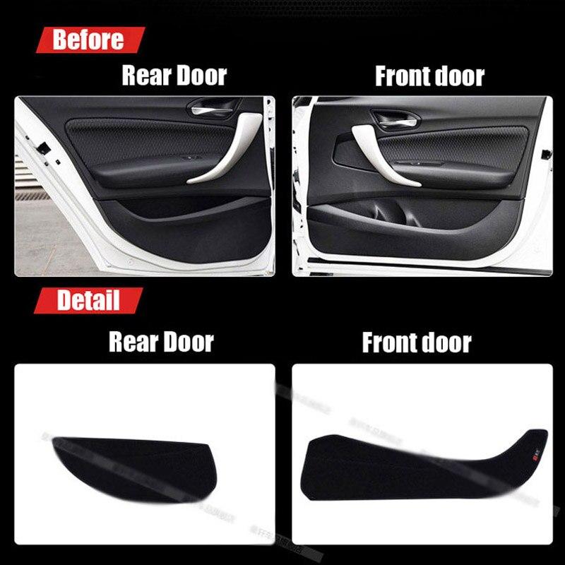 Alfombras de protección de puerta de tela 4 Uds almohadillas decorativas antipatadas para BMW 1 serie 2007-2011