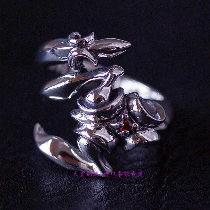 Joyería tailandesa anillos de chico escorpión anillo de plata tailandesa