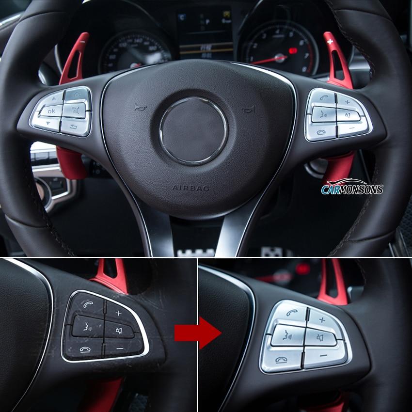 Carmonsons para Mercedes Benz A, B, C, la CIA GLA GLC CLS clase V Vito W176 W246 W117 X156 W205 W447 pegatinas para volante de cubierta