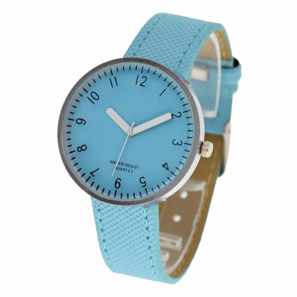 ساعة يد نسائية جلدية ، بالجملة ، موضة جديدة ، لون الحلوى ، حزام رفيع ، كوارتز ، فستان