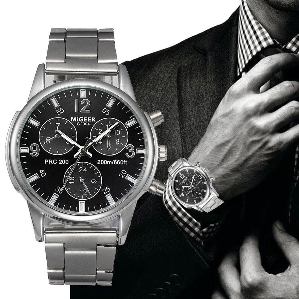 2019E nuevo Aimecor moda hombres cristal Acero inoxidable reloj de pulsera de cuarzo analógico pulsera nuevo Dropshipping L613