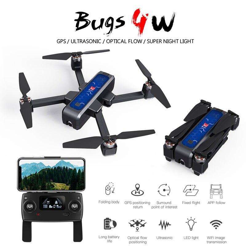 5g gps zangão sem escova do motor quadcopter drones wifi fpv 2 k hd câmera anti-agitação gps + fluxo óptico + ultra-sônico zangão rc helicóptero
