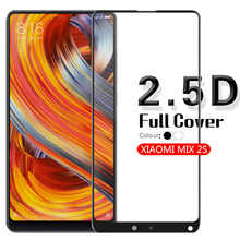 2.5D Edge Anti-Scratch Full Coverage Tempered Glass For Xiaomi MIX 2S Clear Glass Film Screen Protector White&Black+Cleaning Kit
