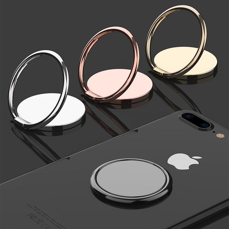 Роскошная металлическая розетка для мобильного телефона, универсальный держатель с поворотом на 360 градусов, держатель для кольца на палец, магнитный автомобильный кронштейн, подставка, аксессуары
