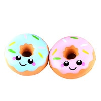 2018 11cm Lovely Doughnut Cream Scented Squishy Slow Rising Squeeze stress soft toy funny gadgets kawai donut Wholesale Dropship