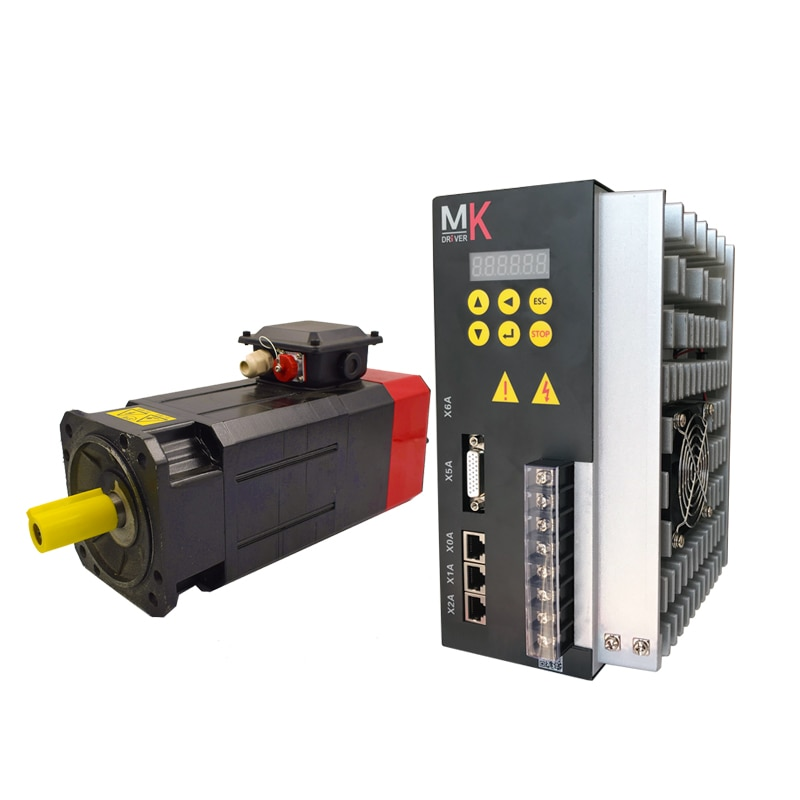 De alto rendimiento de 220V 3.7Kw... 24NM max. Velocidad de 8000RPM individual/3 Fase ac servo Motor del husillo y el conductor para cnc
