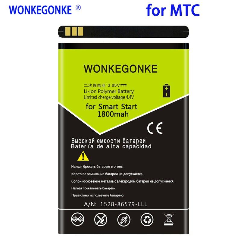 Batería de arranque inteligente WONKEGONKE 1800 mah para MTC Bateria