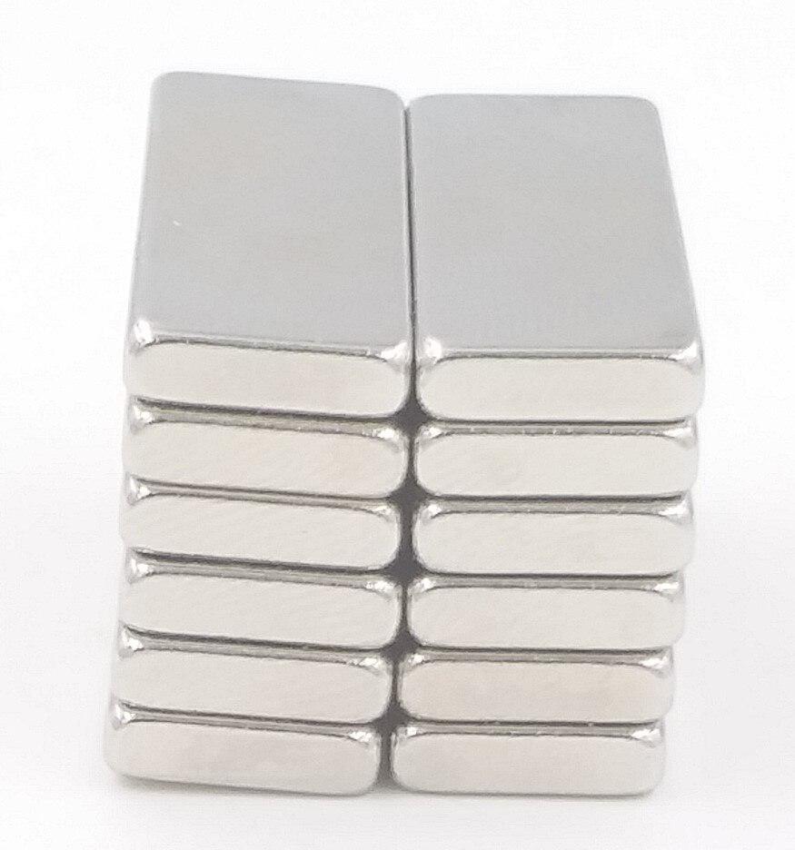 Bloques magnéticos de neodimio de tierras raras cuboides de alta calidad Super fuerte 5 uds N35 30x10x3mm