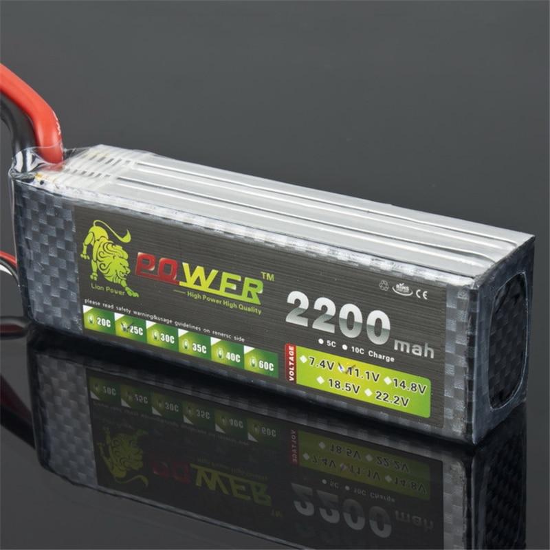 Lion Power Marke Batterie 11,1 V 2200mAh 30C MAX 35C T Stecker für Flugzeug T-REX 450 Halicopter Teil 11,1 v 3s bettary freies verschiffen