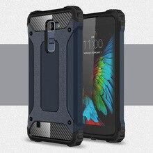 A prueba de choques de la armadura de caja del teléfono para LG K4 K5 K7 K8 K10 K350 K371 caso para LG G5 G6 G7 V40 US375 Escape 3 funda trasera del teléfono móvil caso