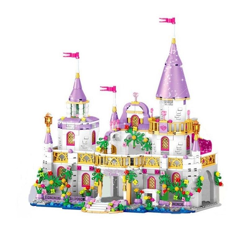Castillo de princesa de Windsor, juguete de regalo para niños, modelo de bloques de construcción compatibles con Legoingly Friends Princess Girl para juguetes de Navidad