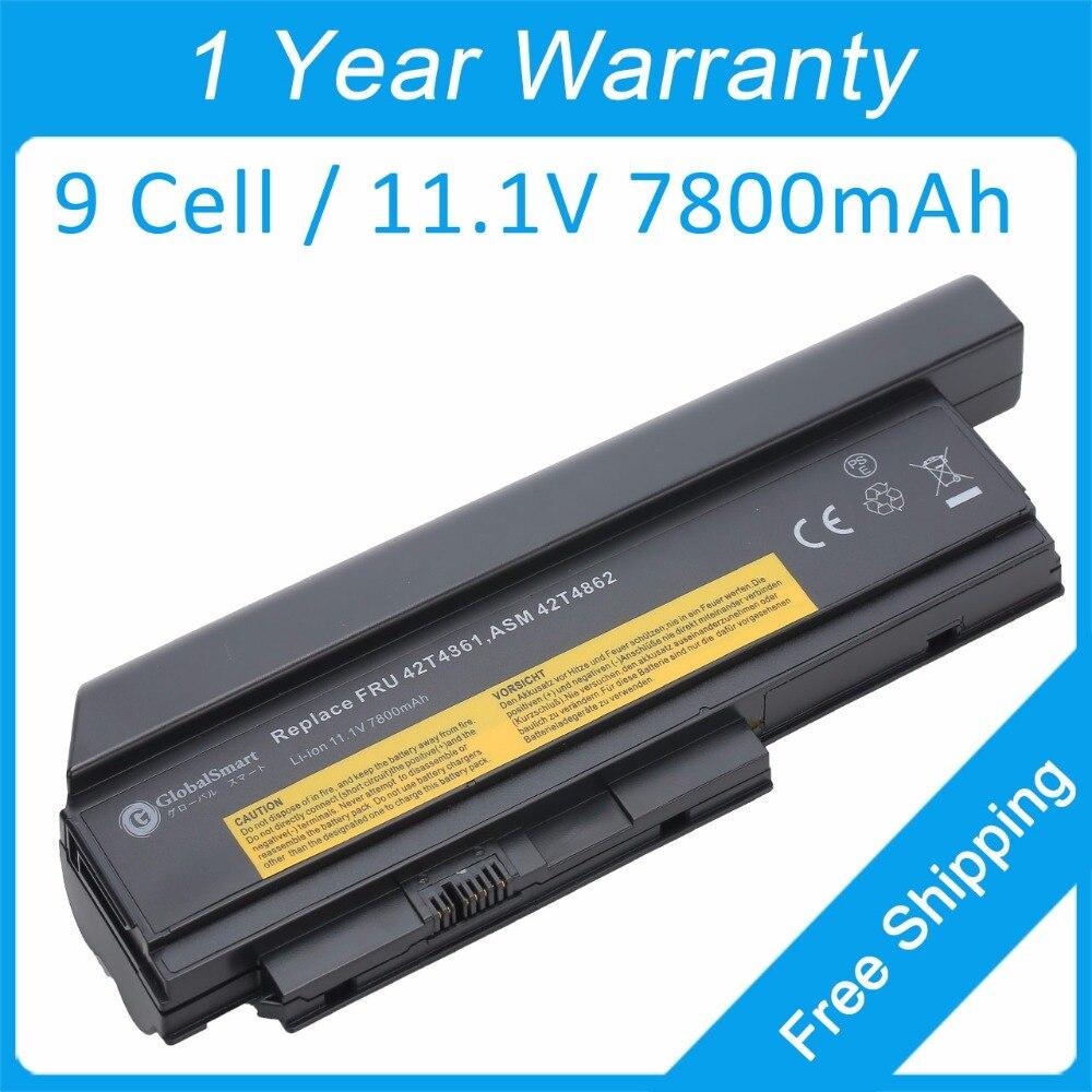 Nueva batería del ordenador portátil de 9 celdas 42T4862 42T4873 42T4902 42Y4940 42T4863 42T4875 42T4940 para lenovo ThinkPad X220i X220s X220 serie