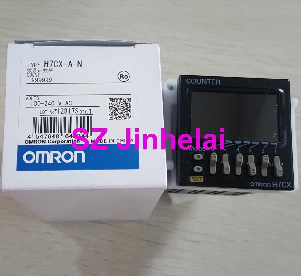 OMRON H7CX-A-N  Authentic original  Count relay 100-240VAC Digital display counter счетчик гейгера