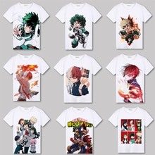 CostumeBuy Anime My Hero Academia Boku No Hero Academia T shirt Deku Tops White T-Shirt izuku midoriya For boys Girls Man Woman